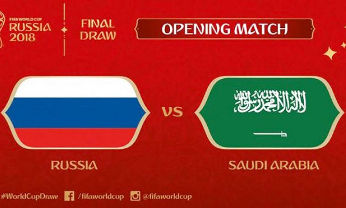 Laga Bersejarah Pembuka Piala Dunia 2018 Rusia Vs Arab