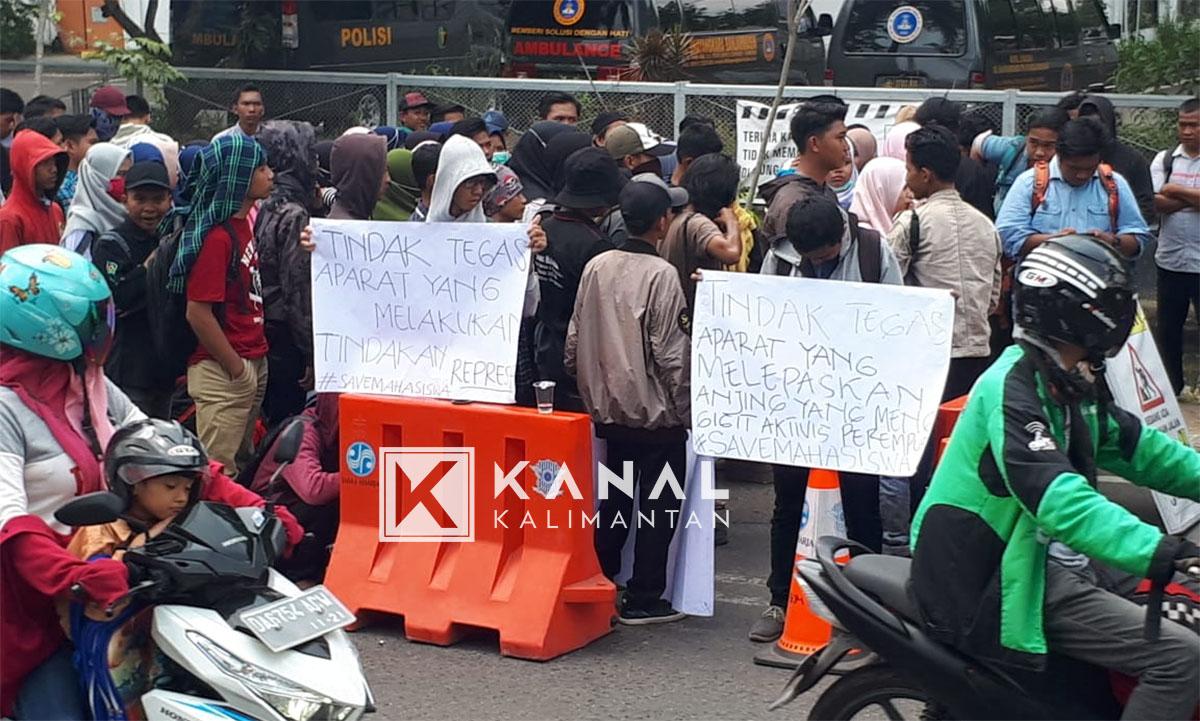 demo di mapolresta mahasiswa (26)