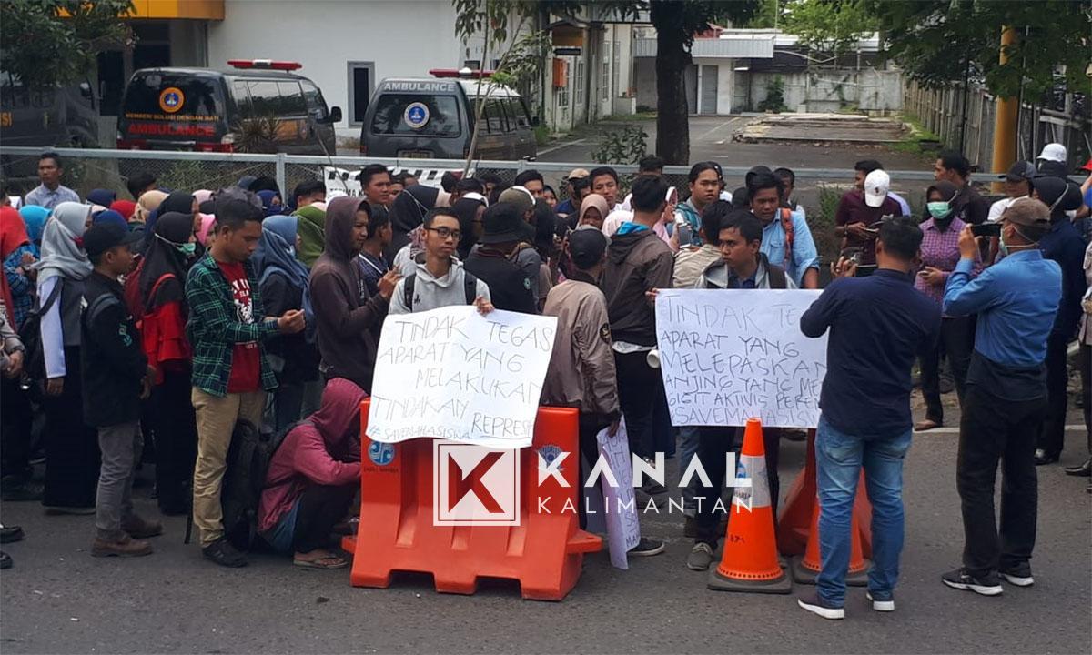demo di mapolresta mahasiswa (28)